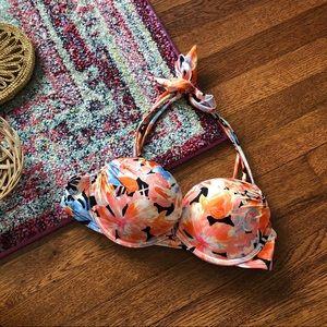 Victoria's Secret floral print push up bikini top